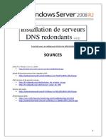 Serveurs DNS redondants sous Server 2008 R2 (tuto de A à Z)