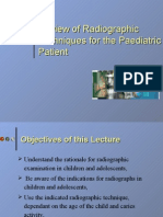 Review of Radiographic Techniques for the Paediatric Patient