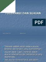 Toleransi Dan Suaian