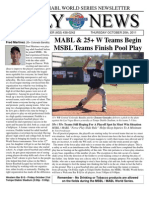MSBL World Series Daily News - Oct 20 2011