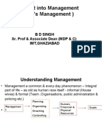 An insight into management
