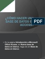 Como Hacer Una Base de Datos en Access