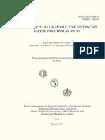 Anteproyecto Filtración Rápida 100lps