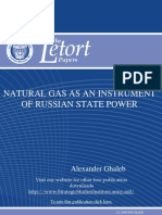 Natural Gas as an Instrument of Russian State Power