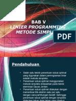 MI BAB v - Program Linier Metode Simpleks