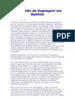O Conceito de Linguagem Em Bakhtin