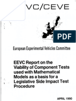 WG9 Viability of Component Tests Used With Mathematical Models as Basis for Legislative Side Impact Test Procedure