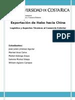 Trabajo Final Exportación Definitiva China Logistica FINAL