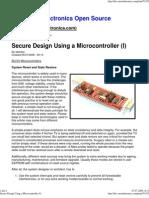 Secure Design Using MicroController 1