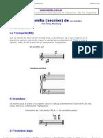 Los Bronces y Vientos y Su Distribucion en La Orquesta Moderna Por