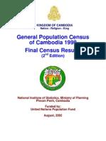Cambodia Census Result 98