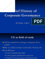 Brief History of corporate Governance