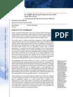 IDC Whitepaper Microsoft Dynamics Crm JUL2011 A4