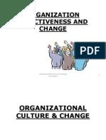 Organization Effectiveness and Change