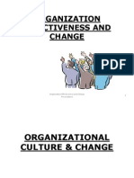 Organization Effectiveness and Change