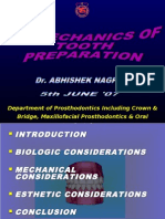 Bio Mechanics of Tooth Preparation