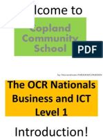 OCR National Level 1 Business & ICT