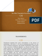 The Other Translation Procedures
