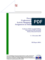 Workshop on Activity Mapping and Function Assignment in India