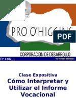 Como interpretar y utilizar el informe vocacional