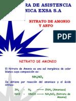Nitrato de Amonio y Anfo
