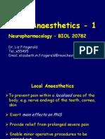 Local Anaesthetics I