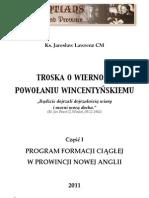 Program formacji ciagłej w Prowincji Nowej Anglii (ks. Jarosław Lawrenz CM)