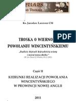 Kierunki rozwoju Prowincji Nowej Anglii (ks. Jarosław Lawrenz CM)