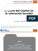 Sesion Coste Del Capital