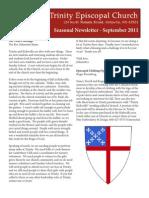September 2011 Trinity Newsletter