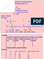 IIPM P. A. Quick Method of IRR