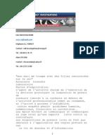 Clause de Non Concurrence Non Divulgation, détectives salf investigations