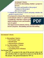 Proj. Appr. Investment Criteria MBA