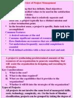 Proj. Management- Overview