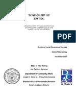 NJDCA Report On Ewing Police Department October 22nd, 2007