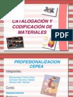 Codificacion y Catalogacion de Materiales