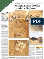 Descubren primera tumba de élite asociada a la leyenda de Naylamp