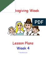 Preschool Curriculum Thanksgiving Theme Lessons Week 4 Day 2 Sample