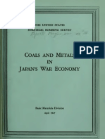 USSBS Report 36, Coal and Metals in Japan's War Economy