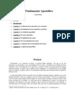 El Fundamento Apostolico - Jose Grau