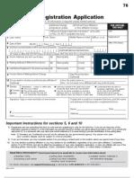 2008 Voter Registration Form