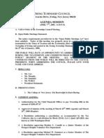 Council Agenda 20080407