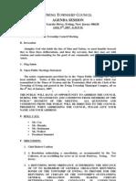 Council Agenda 20070409