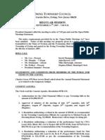 Council Minutes 20070911