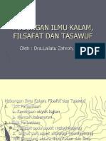 3. Hubungan Ilmu Kalam, Filsafat Dan Tasawuf