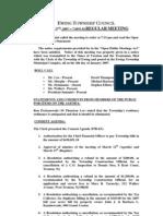 Council Minutes 20070327