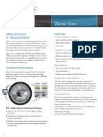 Zenoss Core Datasheet