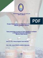 Tratamiento Homeopático de mastitis