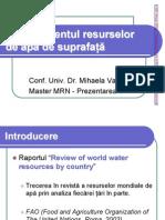 Managementul Resurselor de Apa de Suprafata