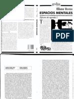 Espacios Mentales, Commonplaces,  Eliseo Verón Pag. 180-186